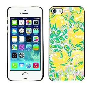 X-ray Impreso colorido protector duro espalda Funda piel de Shell para Apple iPhone 5 / iPhone 5S - Green Flowers Flow Summer