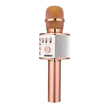 BONAOK Wireless Bluetooth Karaoke Microphone 3-in-1: Amazon.in: Electronics