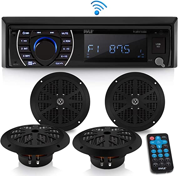 Bluetooth Stereo Radio Boat Marine Receiver AM FM System Wireless USB SD MP3 LCD