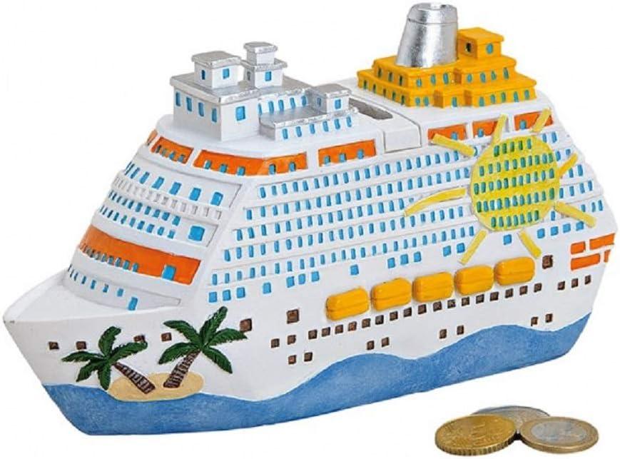 Barco – Cruz de Barco – Hucha – Vacaciones – Hucha – Caja registradora – Aprox. 8 X 5 X 20 CM cerámica: Amazon.es: Hogar