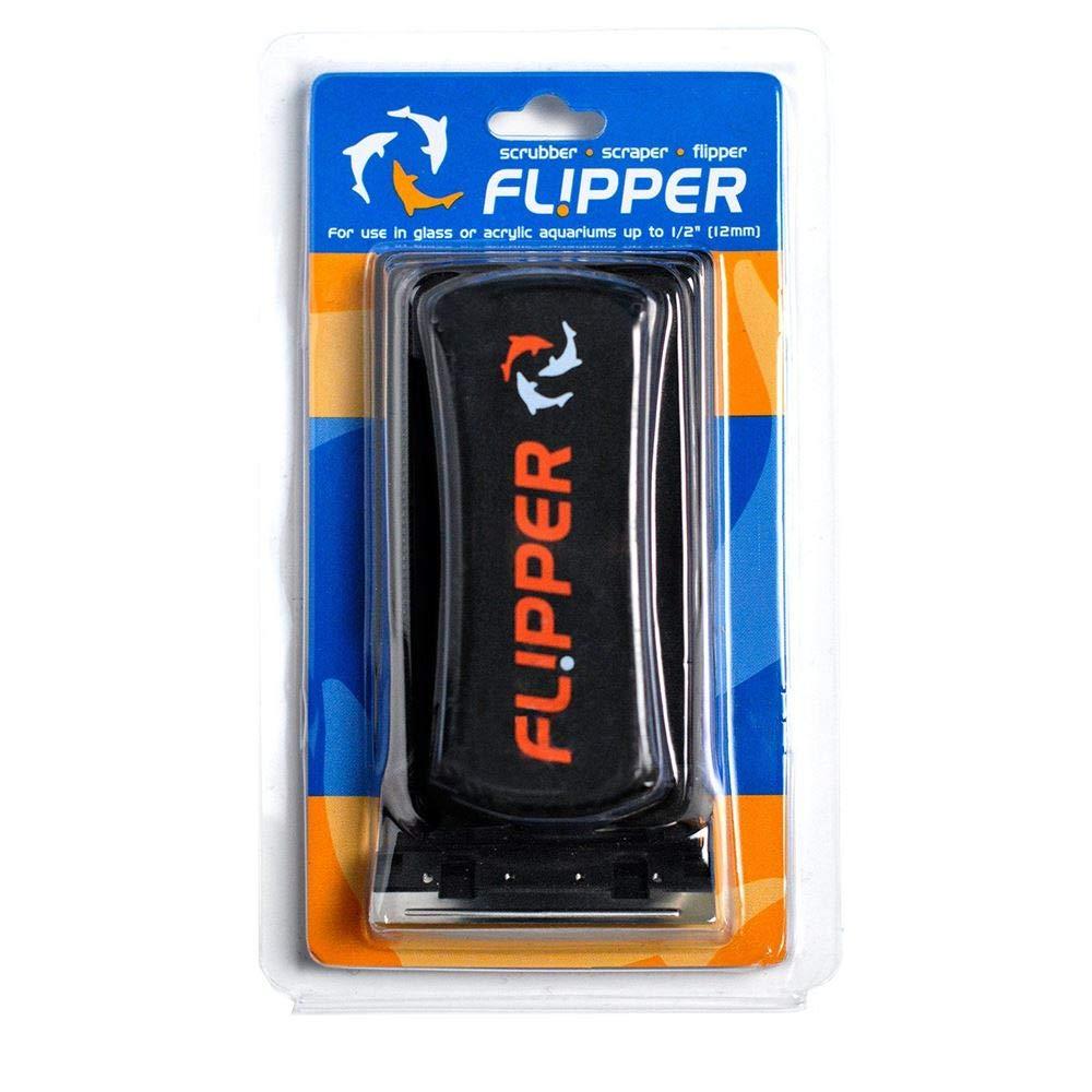 FL!PPER Flipper Standard 2-in-1 Magnetic Aquarium Tank Algae Cleaner Scrubber Scraper by FL!PPER