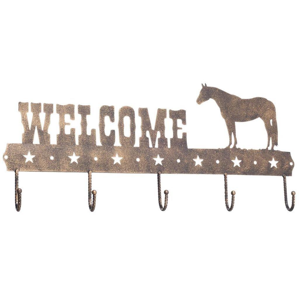 5 Hook Tack Rack Bronze Quarter Horse by Gift Corral