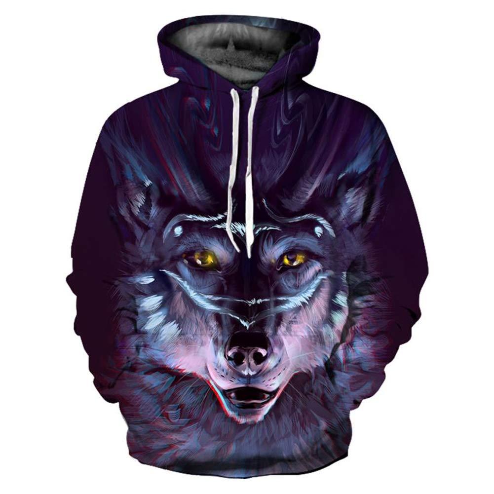 Sweatshirt 3D Galaxy Wolf Pullover Punk Hip Hop Hipster Pullover Hoody 03