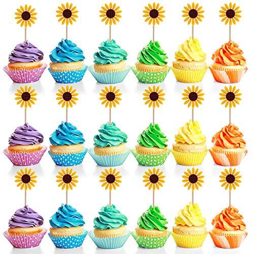 Teemico - Adornos para cupcakes, diseño de girasol, para ...