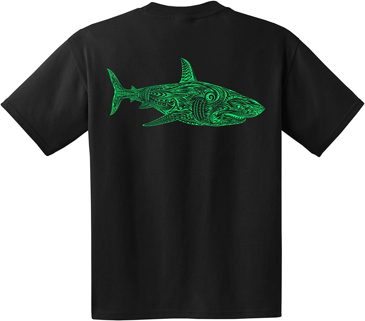 Great White Shark - Made in The USA - Hawaiian Tribal Tattoo Art - Men - Women - Youth - by Scallywag's Cove