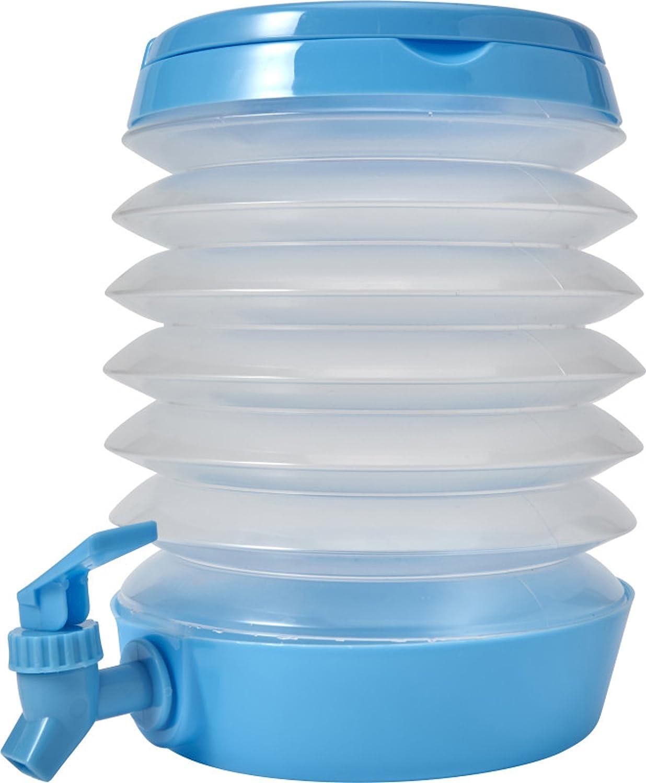 Dispensador de bebidas + grifo Zumo dispensador + Tapa galone de agua 3,5 l dispensador de agua para acampadas, Tiendas, Festival plegable, Weiß, ...
