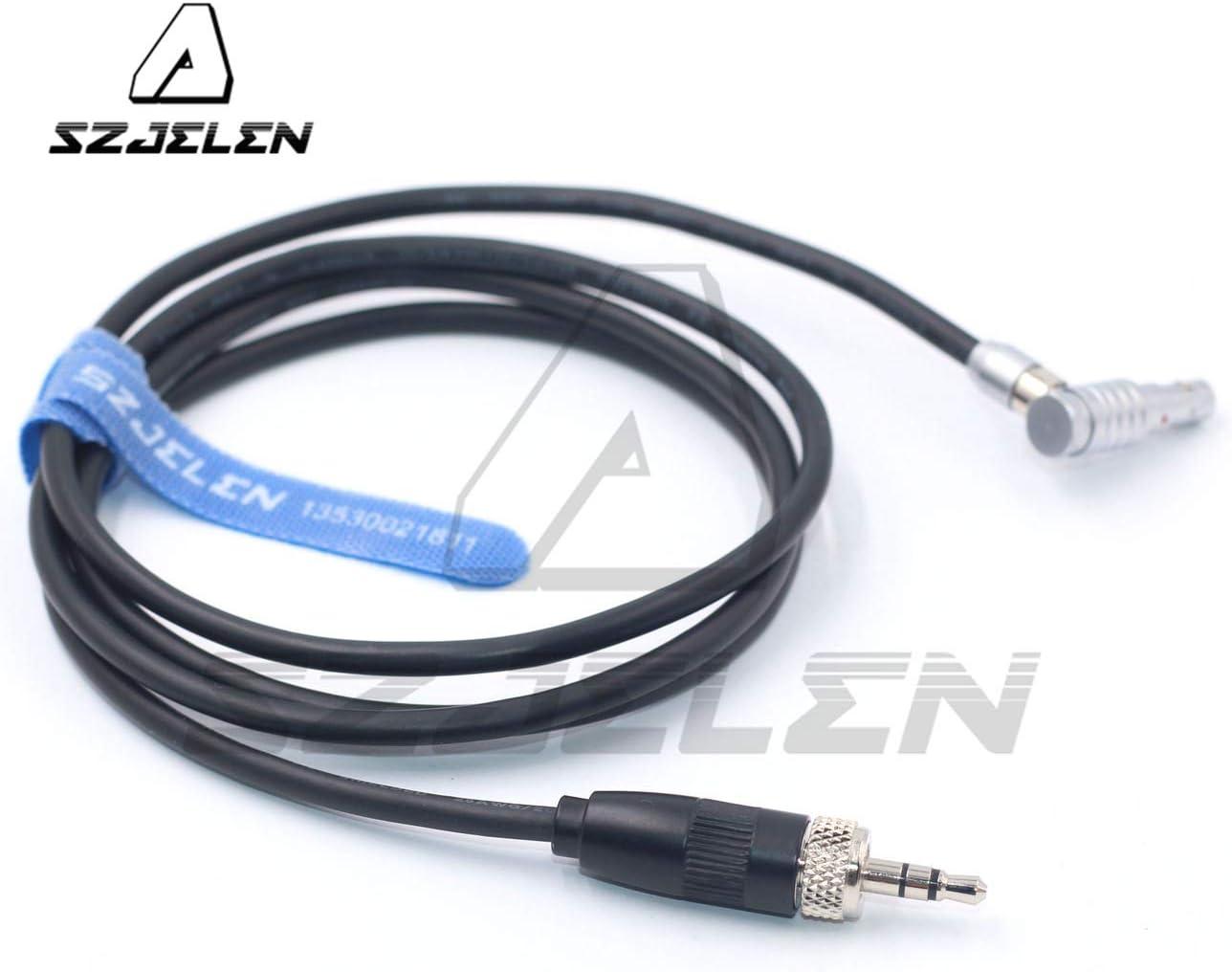 SZJELEN Right Angle 00B 5pin to 3.5mm Audio Plug for Arri Alexa Mini Audio Cable