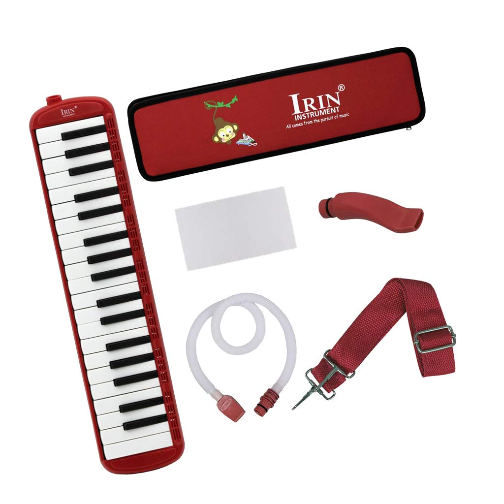 Almencla 37 Key Keyboard Harmonica With Professional Bag Musical Instrument - Red, 48 x 11 x 4.5cm