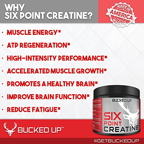 Bucked Up Six Point Creatine™ Six Types of Creatine - For Men and Women by BUCKED UP (Image #1)