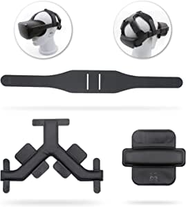 AMVR Headband Strap, Gravity Pressure Balance Cushion Leather Foam Pad for Oculus Quest Headset Accessories with Comfortable Soft Sets