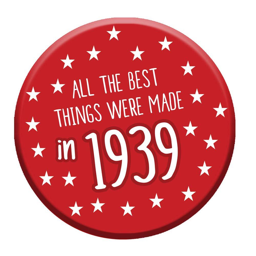 【送料込】 80歳の誕生日バッジ80本日76mmピンボタンノベルティギフト男性女性1939年製 B078SZ2644 B078SZ2644, パウワウRT代官山:bfe1d87b --- mcrisartesanato.com.br