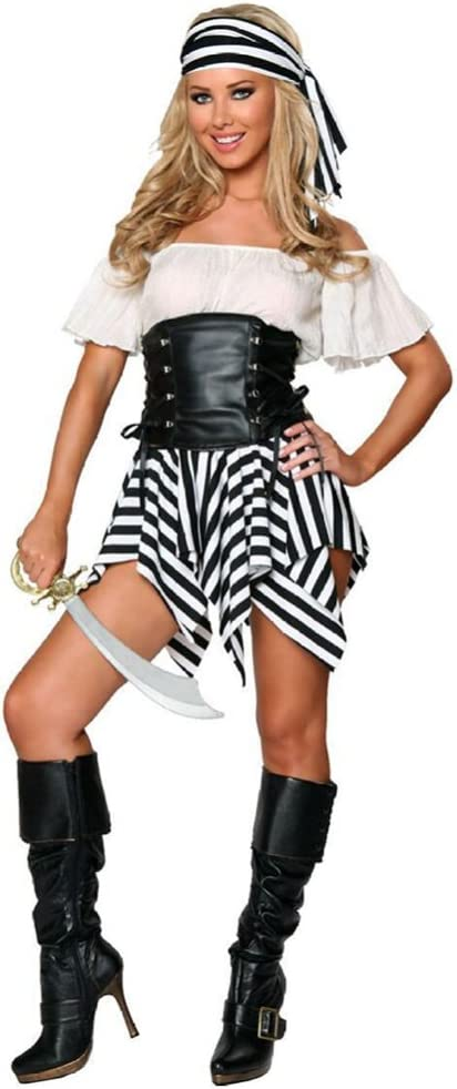 JYY Disfraz De Pirata Femenino Fiesta De Halloween Cosplay Traje ...