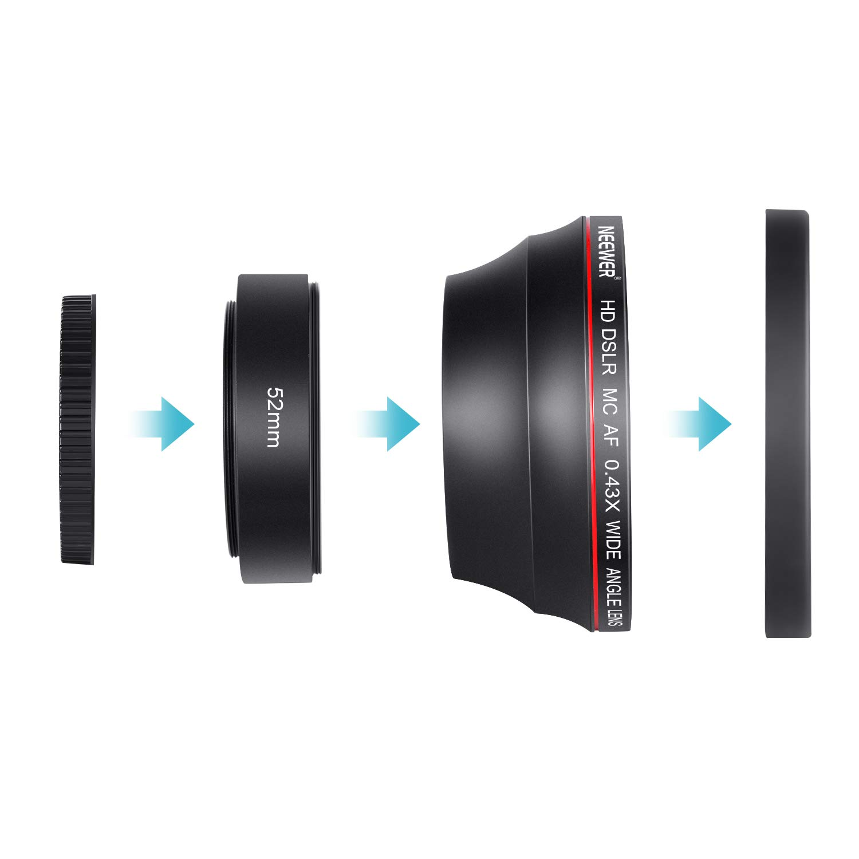 Neewer 52  mm 0, 43  X HD Objectif Grand Qngle avec Macro Close-up Portion  sans ... c95612df628b