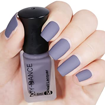 Amazon.com : Sizet Mist Effect Matte Nail Plish Long Lasting Velvet ...