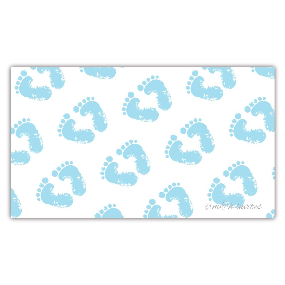 50 Blue Baby Feet Diaper Raffle Tickets - Boy Baby Shower Game by m&h invites (Image #4)