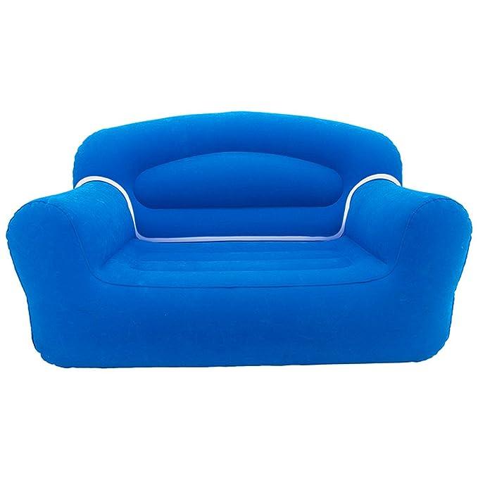 Sillón, sofá inflable de dos plazas, azul, para casa, playa ...
