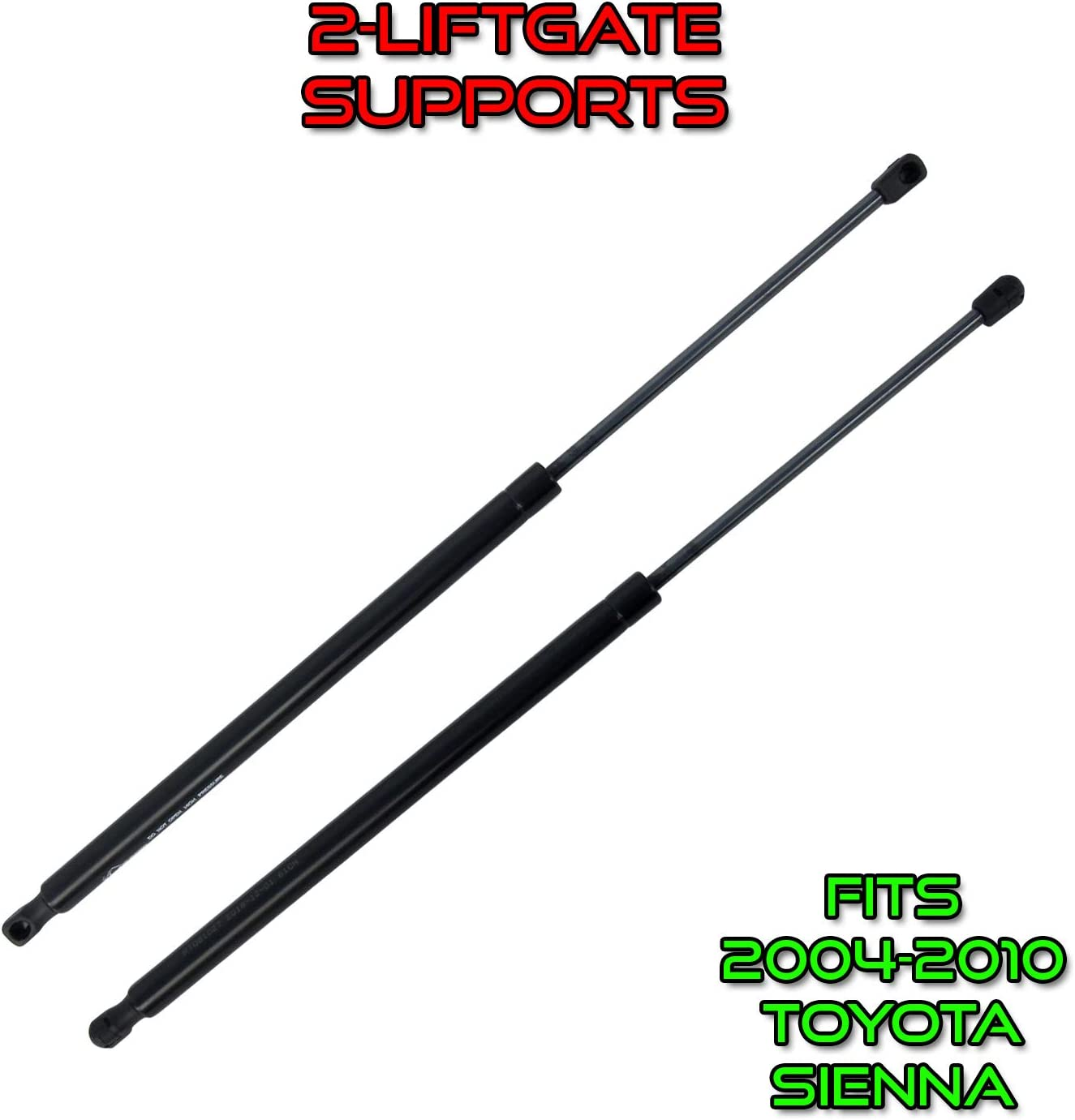 25 Liftgate Door Support RT081027 SG229013 6140 Qty 2 Rugged Tuff Rear Hatch Supports Compatible With 2004-2010 Toyota Sienna