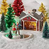 Department 56 6004814 Original Snow Village Holiday Skating Party Lit Building and Accessory Set, 5.25 Inch, Multicolor