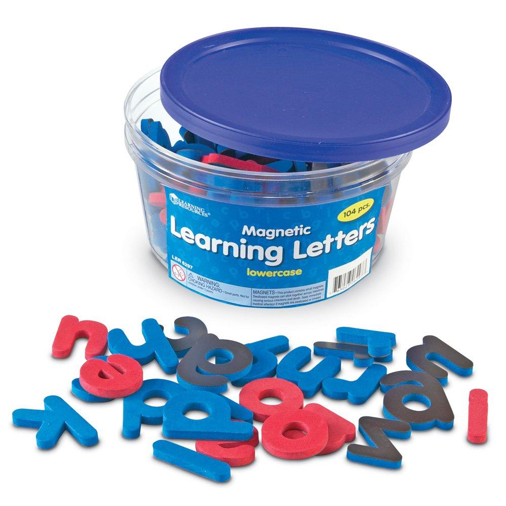 Learning Resources Resources-LER6297 Lettres d'Apprentissage aimantées en Mousse Souple de Minuscules, LER6297
