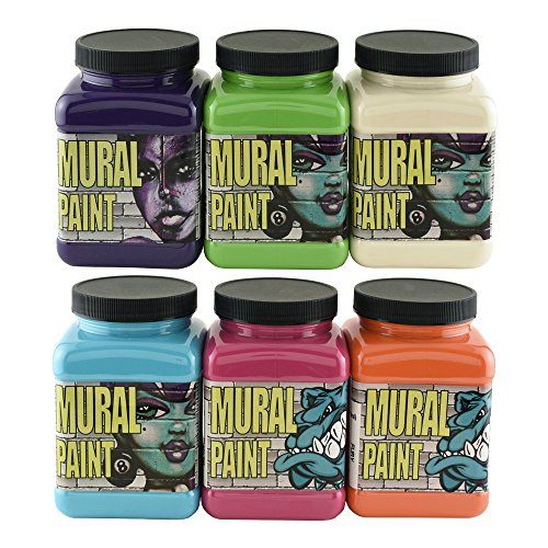 Chroma Mural Paint 16 Oz Set of 6 Brights