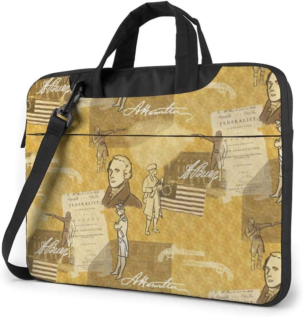 Alexander Hamilton Shockproof Laptop Shoulder Messenger Bag Laptop Case Sleeve Laptop Briefcase Business Handbag