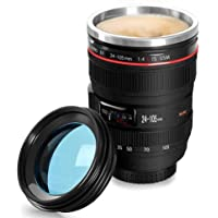 YOMYM Camera Lens Coffee Mug,the Latest Design Stainless Steel Travel Mugs,Food Grade Materials,Leak Proof,12oz,Photography Mugs,Tumbler Insulated Cups for Hot and Cold Drinks,for All Ages
