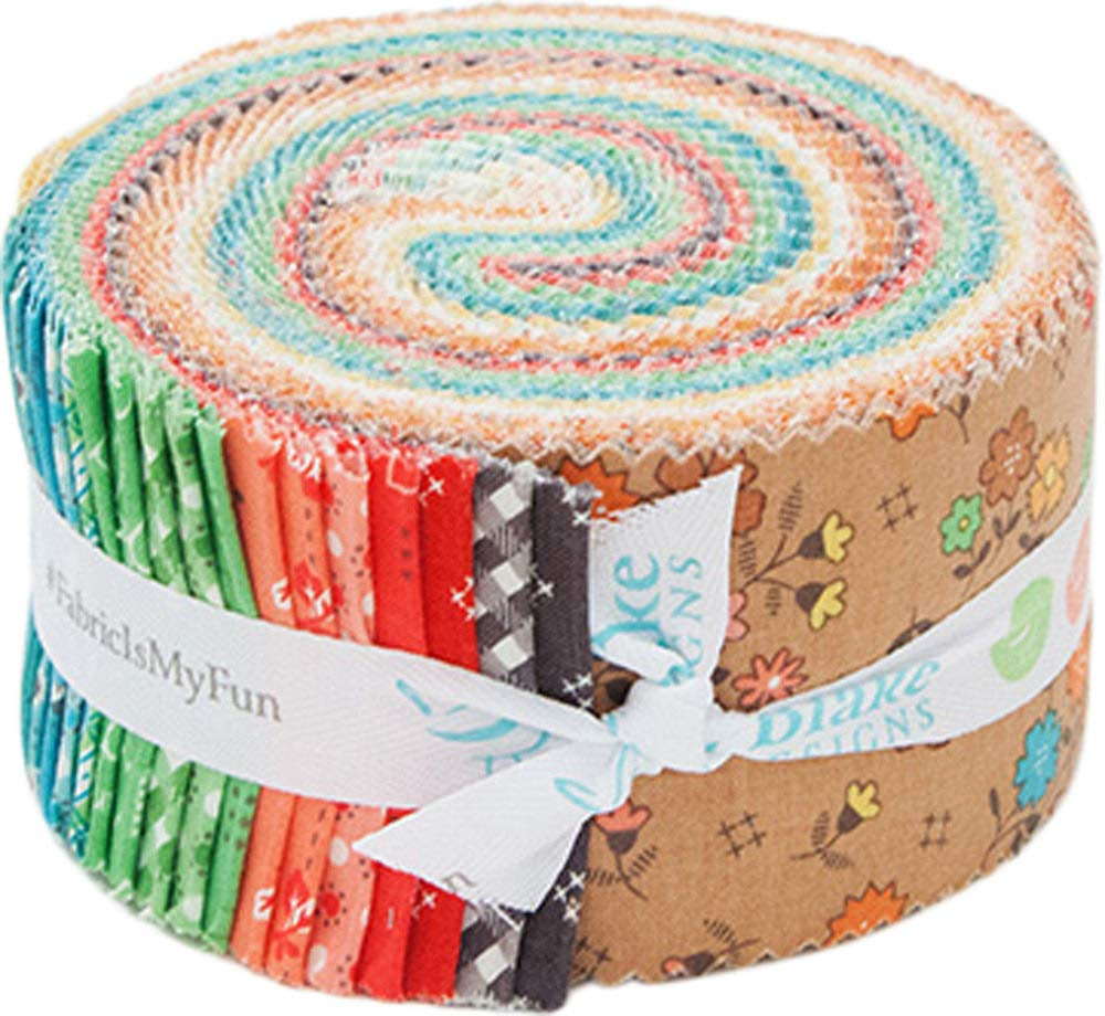 Lori Holt Autumn Love Rolie Polie 40 2.5-inch Strips Jelly Roll Riley Blake Designs RP-7360-40
