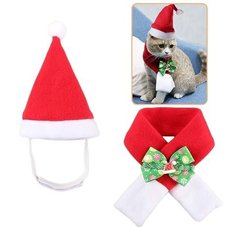 Amazon.com: Lovinouse Disfraz de Navidad para mascotas, gato ...