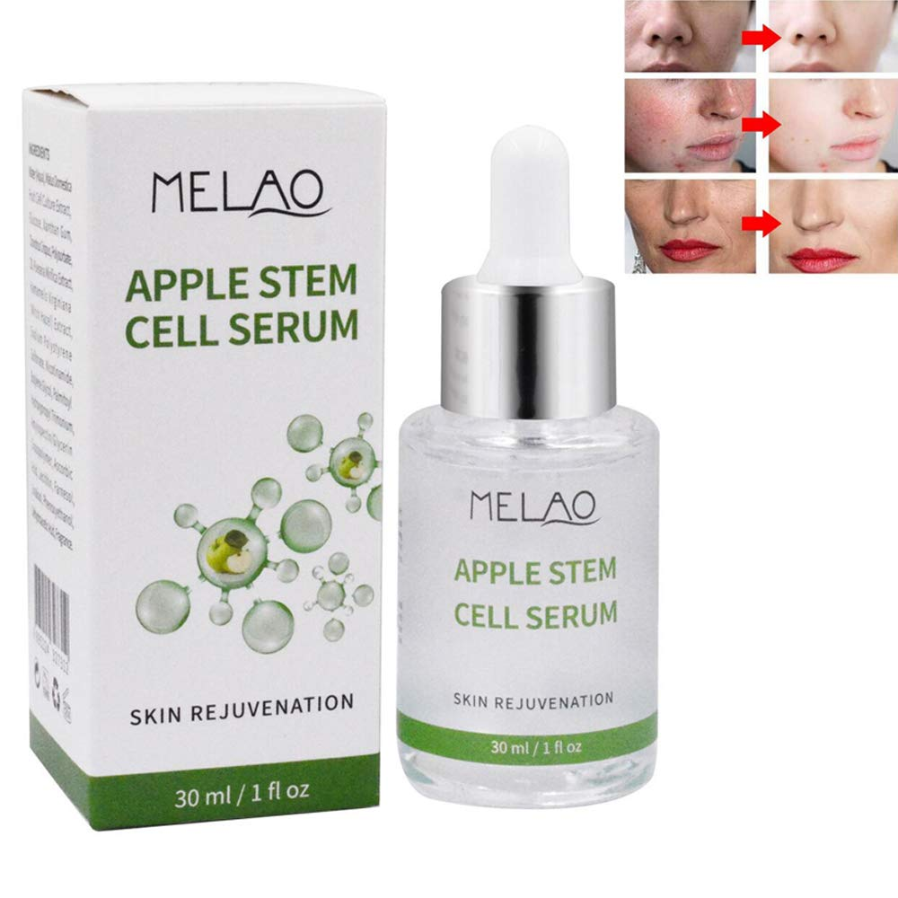 Face Skin Care Serum Apple Stem Cell Liquid for Anti-Wrinkle, Anti-Aging, Removing Acne, Cleaning Pores, Restore Skin Elasticity