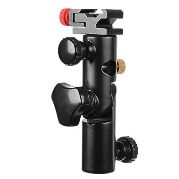 Walimex 17040 - Soporte metálico para flash y paraguas, color negro