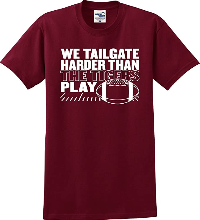 8fd9297e0 Amazon.com: Alabama Crimson Tide Fans We Tailgate Harder Than The Tigers  Play Football T-Shirt (S-5X): Clothing