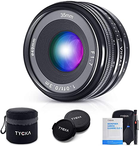TYCKA 35 mm F1.7 Lente de Enfoque Manual para cámaras Sony E-Mount ...