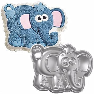 Dibujos animados elefante 3d Cake Mold - Batería de cocina de aluminio anodizado moldes de comedor Bar Decoración de Pasteles Fondant Molde para fiesta de ...