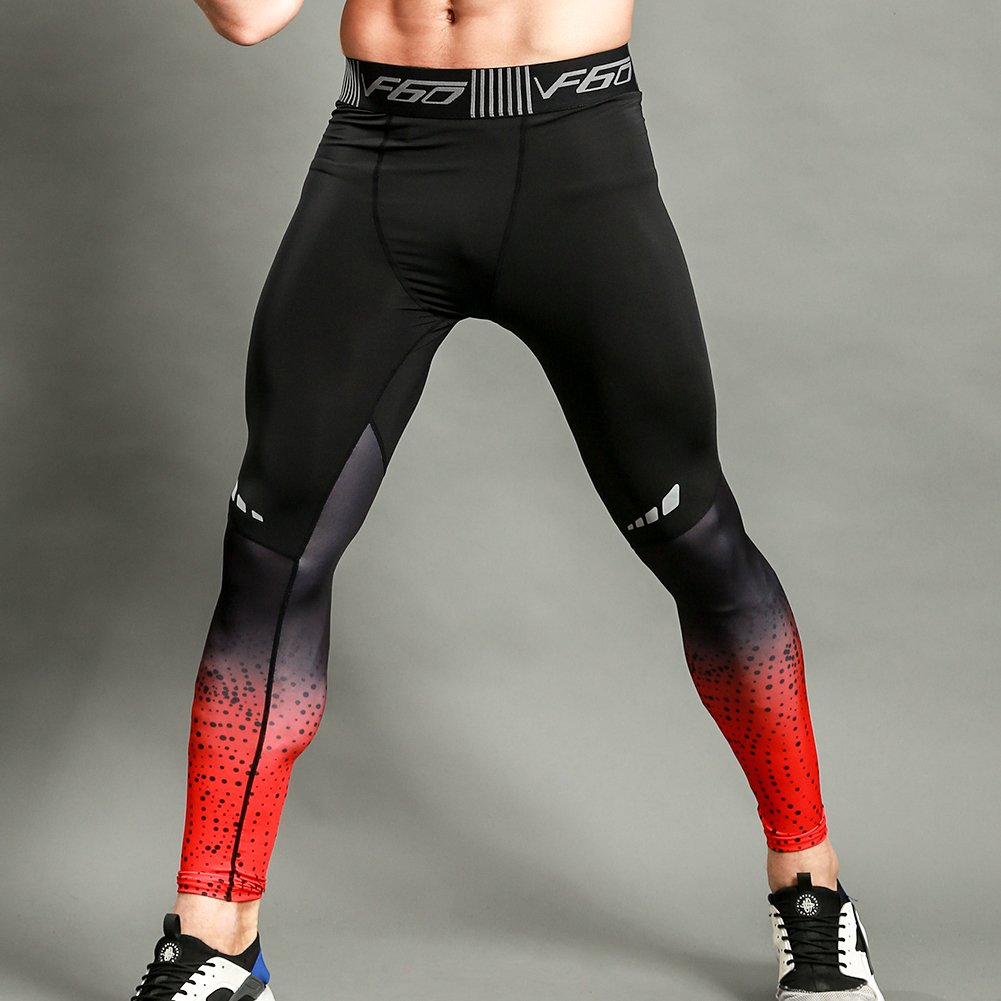 48d14bcb02dd2 Amazon.com: Gerlobal Men's Compression Tights Advanced Compression & Muscle  Recovery Leggings For Training,Running & Athletics Red,Medium: Clothing