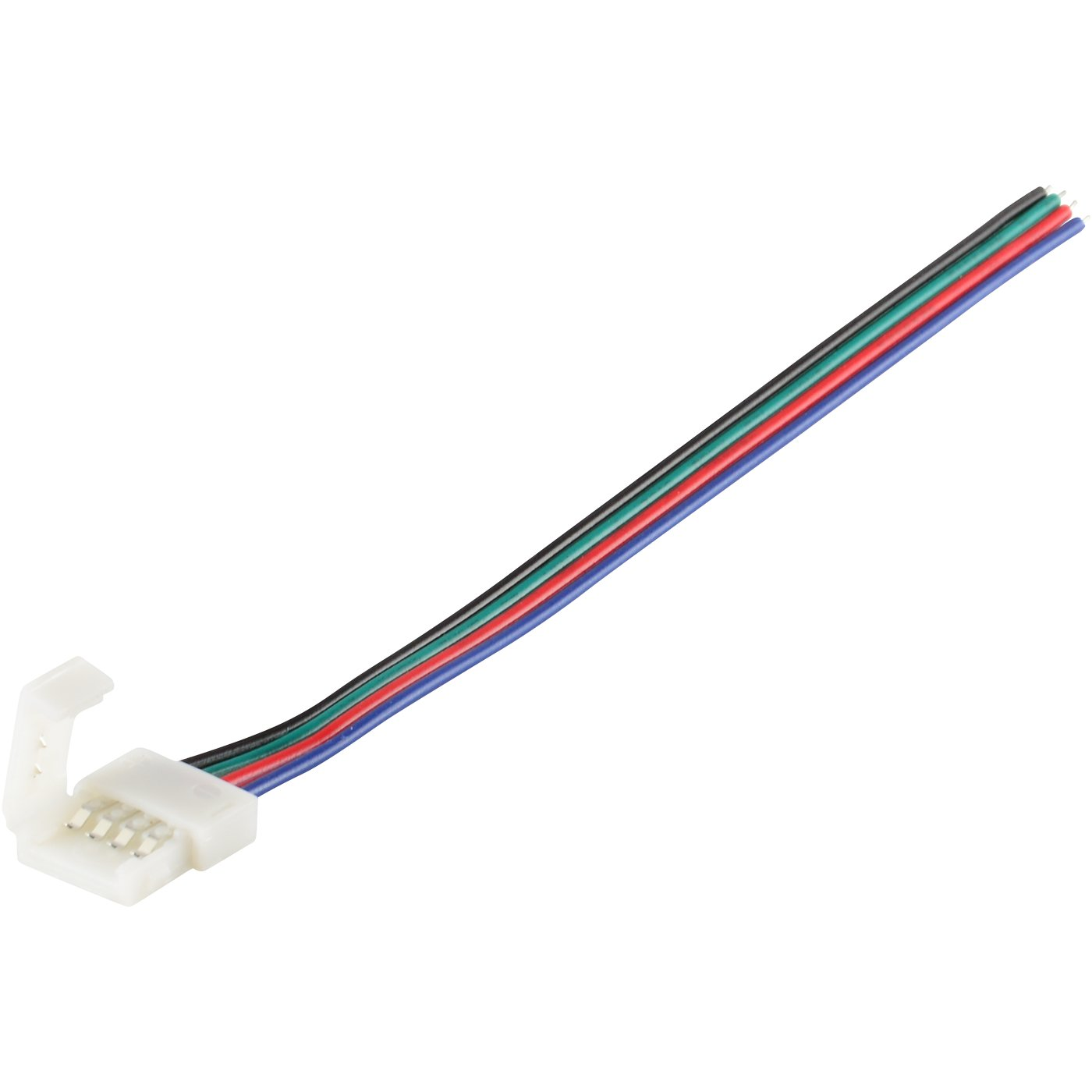 Abi 10mm Solderless 4 Wire Connector Clip For 5050 Rgb Wireclip Wiring Led Light Strips Photo Strip Power Home Improvement