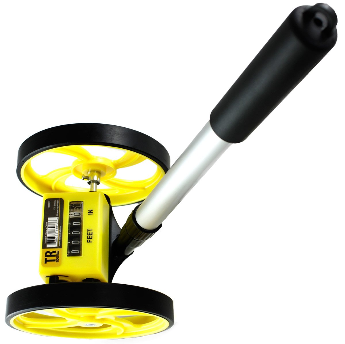 TR Industrial TR88017 FX Series Collapsible Measuring Wheel, Yellow/Black