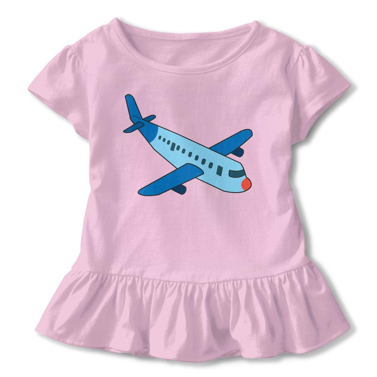 NMDJC CCQ Cartoon Airplane Baby Skirts Fashion Kids T Shirt Dress Cotton Flounces Jumpsuit