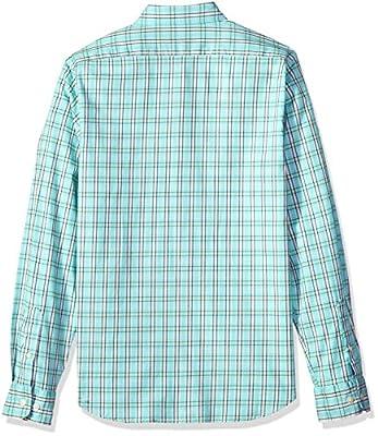 Nautica Men's Long Sleeve Plaid Stretch Slim Fit Button Down Shirt