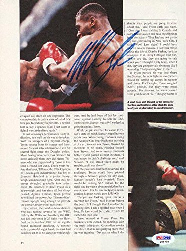 Mike Tyson Autographed Signed Magazine Page Photo Vintage Q65709 PSA/DNA Certified Autographed Boxing Magazines