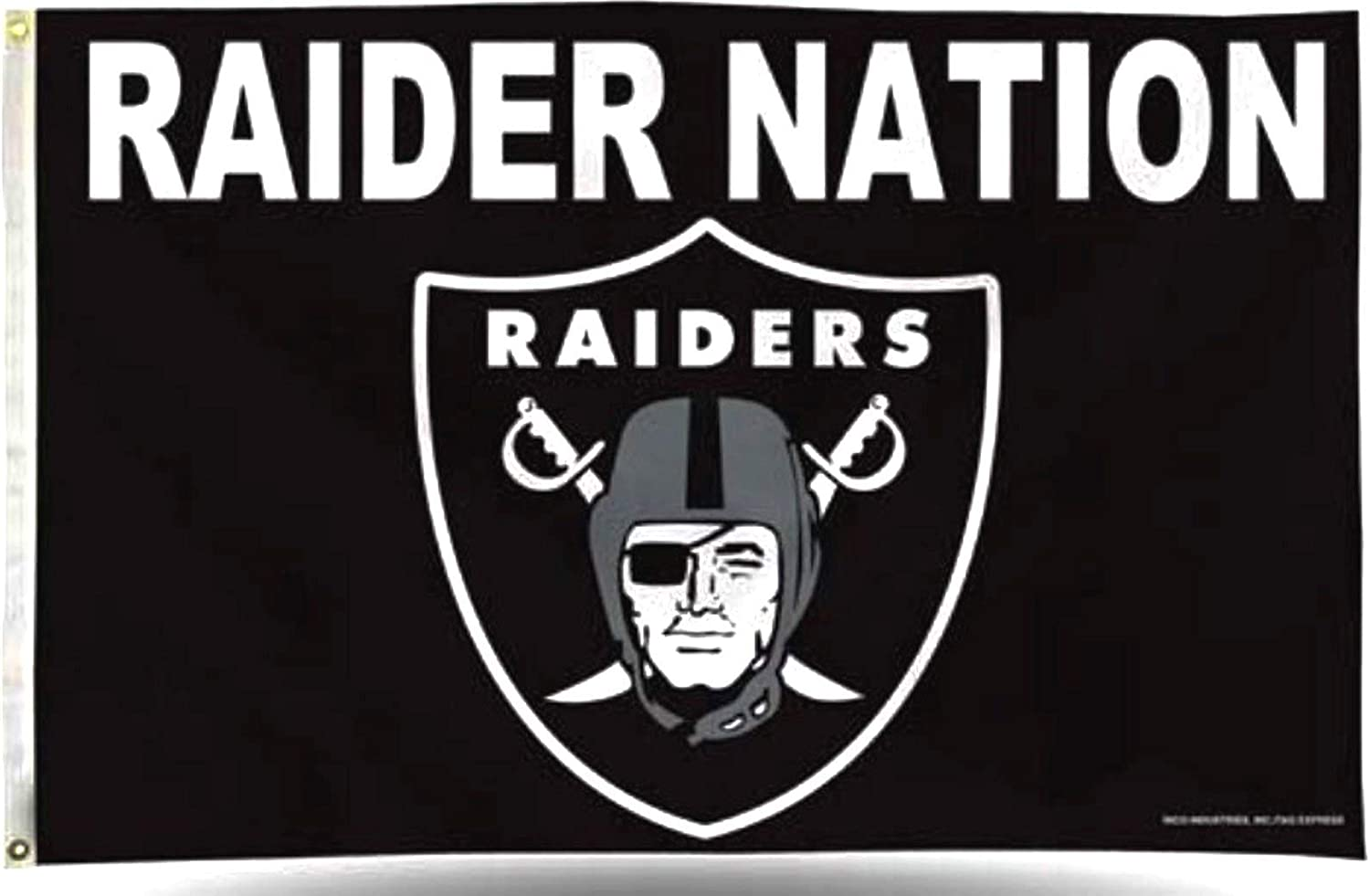 Amazon Com Rico Industries Inc Las Vegas Raiders Raider Nation Premium 3x5 Flag With Grommets Outdoor House Banner Oakland Football Sports Outdoors
