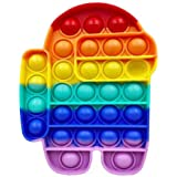 Push Pop Bubble Fidget Sensory Toy Stress Relief Silicone Pop It Fidget Toy, Ice Cream, Square, Round Shape Squeeze Sensory T