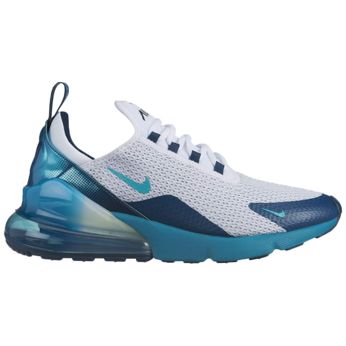 Nike Men's Air Max 270 Mesh Running Shoes (11.5, 白い/Spirit Teal-Nightshade)