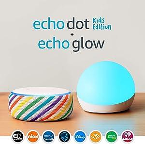 Echo Dot Kids Edition - Rainbow - With Echo Glow