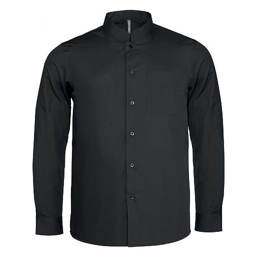 liberar información sobre original mejor calificado nueva colección Kariban - Camisa cuello mandarin manga larga hombre ...