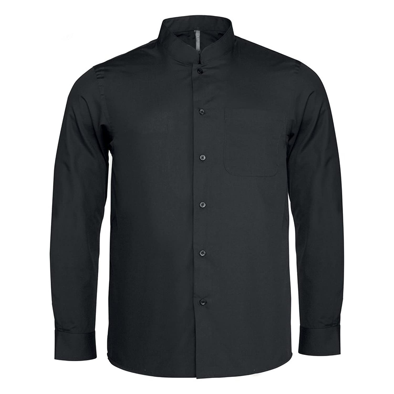 e90c0461d8568 30%OFF Kariban - Camisa cuello mandarin manga larga hombre caballero ...