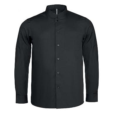 95b5fa276b4e Kariban Mens Long Sleeve Mandarin Collar Shirt at Amazon Men s ...