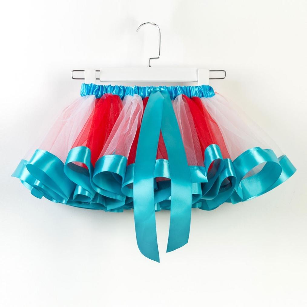 Hatoys Toddler Kids Girls Tutu Tulle Ballet Rainbow Skirts 1 PC