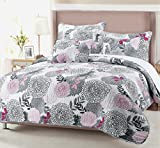 Christmas Gifts Sets Trista Floral 3-piece Quilt Set (Full/Queen Set)