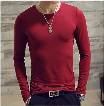 QHDZ Moda Camiseta de manga larga casual para hombre de ...