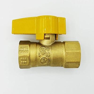 Cambridge Gas Appliance Connector Shut Off Valve 1/2 Inch FIP x 1/2 Inch FIP